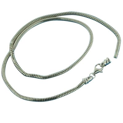 Sterling silver 3mm snake necklace
