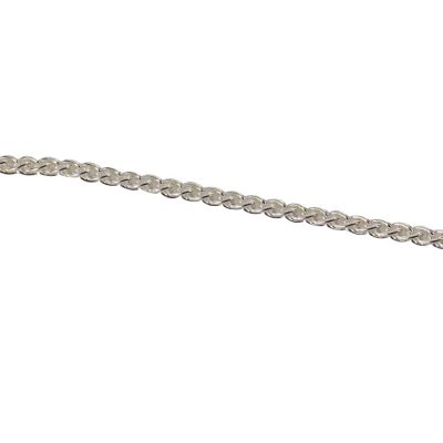 Sterling silver Spiga chain necklace